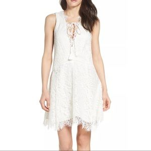 Anthropologie Adelyn Rae Lace Trim dress